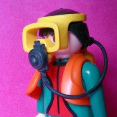 Playmobil: FIGURA PLAYMOBIL BUZO SUBMARINISTA NARANJA . Lote 131102380