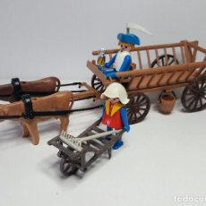 Playmobil: DIFICIL CARRO CAMPESINO PLAYMOBIL 3503 CARRETA CARROMATO GRANJA GRANJERO OESTE. Lote 131857090