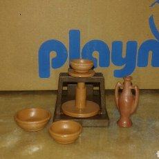 Playmobil: PLAYMOBIL TORNO ALFARERO CON PIEZAS CERAMICAS PARA BELEN Y MEDIEVAL. Lote 179215103