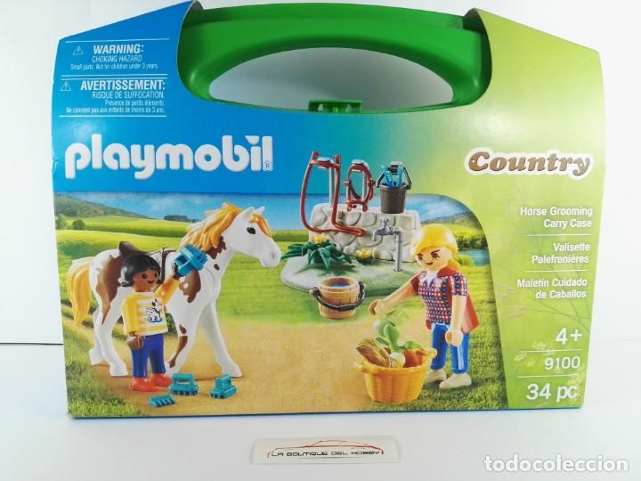 MALETIN CUIDADO DE CABALLOS PLAYMOBIL COUNTRY 9100 (Juguetes - Playmobil)