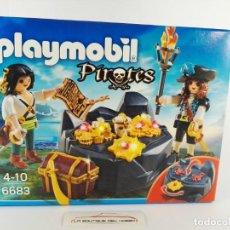 Playmobil: ESCONDITE DEL TESORO PIRATA PLAYMOBIL PIRATES 6683. Lote 132412658