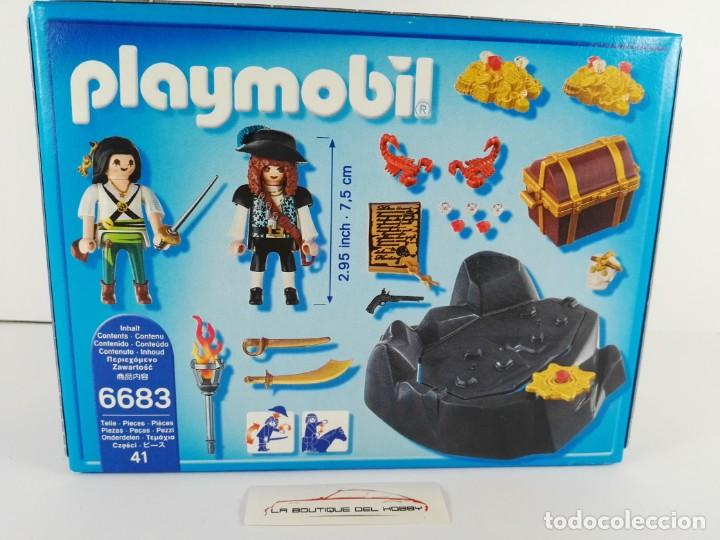 Playmobil: ESCONDITE DEL TESORO PIRATA PLAYMOBIL PIRATES 6683 - Foto 2 - 132412658