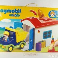 Playmobil: CAMION CON GARAJE PLAYMOBIL 1-2-3 6759. Lote 132414854