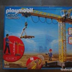 Playmobil: SET PLAYMOBIL REFERENCIA 5466 GRUA DE OBRAS. Lote 132465878