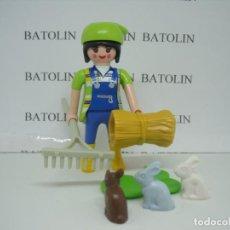 Playmobil: PLAYMOBIL FIGURAS MUJER GRANJERA CIUDAD. Lote 133212722