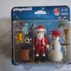 Playmobil: BLISTER REFERENCIA 4890 PLAYMOBIL. NAVIDAD PAPA NOEL Y MUÑECO DE NIEVE. Lote 133428422