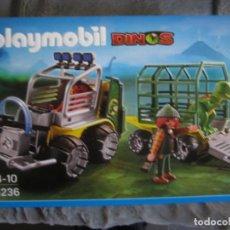 Playmobil: SET PLAYMOBIL REFERENCIA 5236 SERIE DINOS COCHE Y BEBE DINO. Lote 133428542