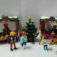 Playmobil: PLAYMOBIL, NAVIDAD, MERCADO, BELÉN, TIENDA, ÁRBOL, CIUDAD, FIGURAS, ACCESORIOS, COMIDA, JUGUETES. Lote 133639885