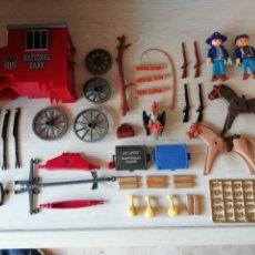 Playmobil: PLAYMOBIL, LOTE,SOLDADOS, OESTE,WESTERN, NORDISTAS, SUDISTAS, OFICIAL, REF. 3037, CARRETA, ORO. Lote 134012906
