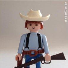 Playmobil: PLAYMOBIL FIGURA VAQUERO TIRANTES GRANJA INDIOS FUERTE OESTE WESTERN VARIOS PIEZAS. Lote 134109718