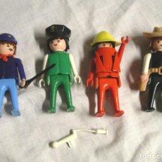 Playmobil: 4 PERSONAJES PLAYMOBIL, POLICIA, OBRAS, SHERIFF Y AYUDANTE SHERIFF. Lote 134139150