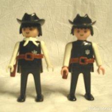 Playmobil: LOTE 2 FIGURAS SHERIFF GEOBRA DE PLAYMOBIL, UNO PINZAS Y ARTICULADO AÑO 1974. Lote 134139250