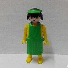 Playmobil: PLAYMOBIL, FIGURA, DEPENDIENTE, MERCADO, TIENDA, CITY, OESTE, MEDIEVAL, ACCESORIOS, PRIMERA ÉPOCA. Lote 134158553