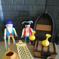 Playmobil: PLAYMOBIL REF. 3799 ISLA PIRATA, NÁUFRAGO. Lote 134753682