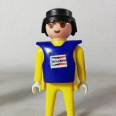 Playmobil: PLAYMOBIL FIGURA PILOTO DE MOTOS MOTOCROSS COMPETICION CARRERAS (ZCETA). Lote 134872050