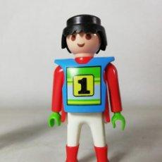 Playmobil: PLAYMOBIL FIGURA PILOTO DE MOTOS MOTOCROSS COMPETICION CARRERAS (ZCETA). Lote 134872082