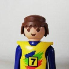 Playmobil: PLAYMOBIL FIGURA PILOTO DE MOTOS MOTOCROSS COMPETICION CARRERAS (ZCETA). Lote 134872918