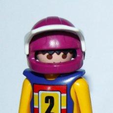 Playmobil: PLAYMOBIL MEDIEVAL FIGURA PILOTO DE MOTOCROOS. Lote 135215086