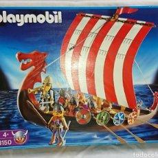 Playmobil: BARCO VIKINGO PLAYMOBIL 3150 CASI COMPLETO. Lote 135303430