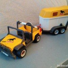 Playmobil: JEEP CON REMOLQUE PARA CABALLOS PLAYMOBIL. Lote 135325158