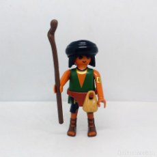 Playmobil: PLAYMOBIL CUSTOM PASTOR ALDEANO CON BASTÓN NAVIDAD BELÉN FIGURA . Lote 143058468