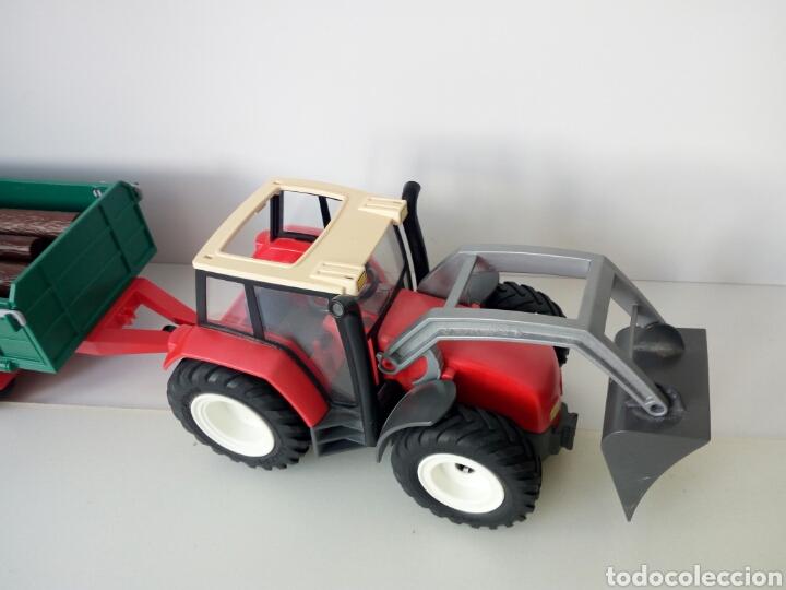 Playmobil: PLAYMOBIL. TRACTOR CON REMOLQUE PARA TRONCOS DE ARBOLES - Foto 2 - 135793589