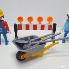 Playmobil: JEFE OBRA PLAYMOBIL CONSTRUCCION CALZADA PEON ALBAÑIL CAPATAZ OBRERO . Lote 136145366