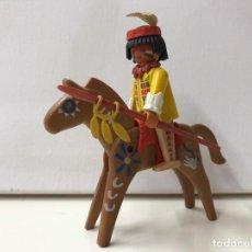 Playmobil: PLAYMOBIL - INDIO CON CABALLO. Lote 136708130