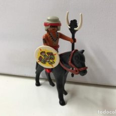 Playmobil: PLAYMOBIL - GUERRERO INDIO CON CABALLO. Lote 136709110