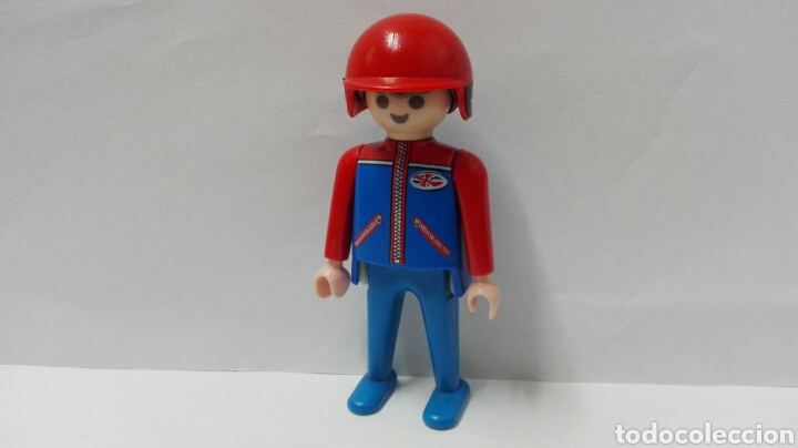 Playmobil, figura, piloto, casco, coche, moto, ciudad, motocicleta, automóviles, usado segunda mano