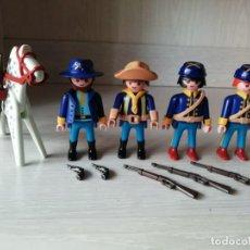 Playmobil: PLAYMOBIL, LOTE, OESTE, WESTERN, NORDISTA, INDIOS, SOLDADO, OFICIAL, FORD EAGLE, CABALLO, REF. 3023. Lote 136860790