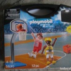 Playmobil: SET 5630 PLAYMOBIL JUGADORES DE BASKET EN MALETIN. NUEVO. Lote 137163506