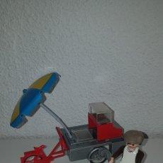 Playmobil: PLAYMOBIL VENDEDOR DE PERRITOS HOT DOG TÍPICO USA CAZAFANTASMAS. Lote 137246985