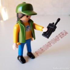 Playmobil - PLAYMOBIL [CUIDADORA DELFINARIO 4466 TRANSPORTE DELFÍN ANIMAL ACUARIO ZOO GORRA VERDE WALKIE TRENZA] - 137405154