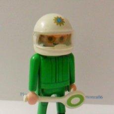 Playmobil: PLAYMOBIL C126 FIGURA MOTORISTA CON CASCO POLICIA IDEAL COMPLETAR ESCENAS. Lote 137847502