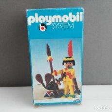 Playmobil: ANTIGUA CAJA DE PLAYMOBIL O FAMOBIL REF 3352 INDIO CON CANOA . Lote 140289946