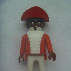 Playmobil: PLAYMOBIL DE 1974 : FIGURA DE COLOR ( NEGRO ) CON PETO Y TRICORNIO. Lote 140637226