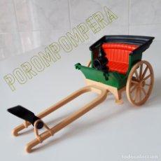 Playmobil: PLAYMOBIL [ANTIGUA CALESA VICTORIANA + FAROL ORIGINAL 3481 CARRUAJE OESTE 7070 AÑOS 80]. Lote 140717942