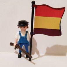 Playmobil: PLAYMOBIL SOLDADOS DE LA HISTORIA MILICIANO REPUBLICANO GUERRA CIVIL ESPAÑOLA ABANDERADO. Lote 171686220