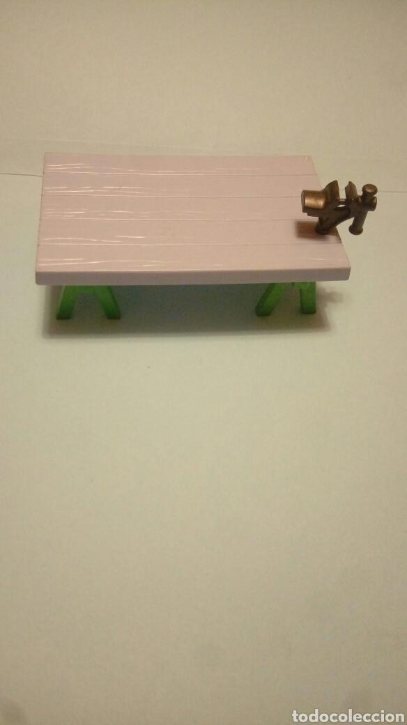 PLAYMOBIL MESA TRABAJO MADERA CABALLETES TORNO (Juguetes - Playmobil)