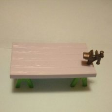 Playmobil: PLAYMOBIL MESA TRABAJO MADERA CABALLETES TORNO. Lote 142077088