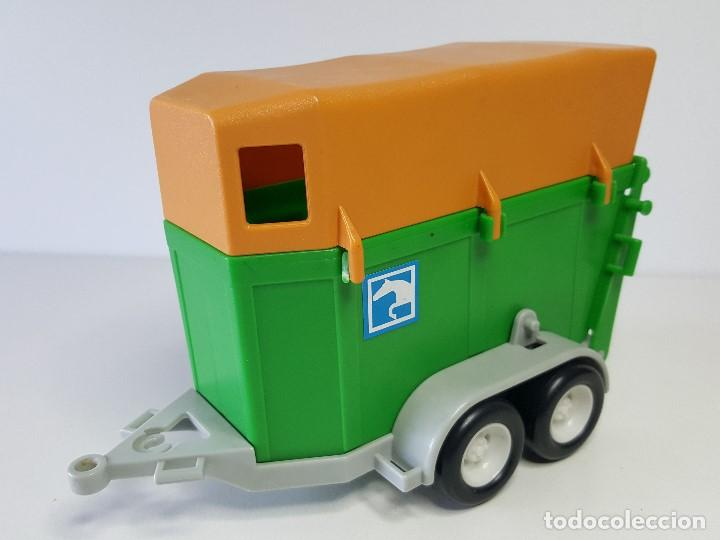 Remolque Animales Vehiculo Playmobil Coche Hipica Jeep Caballos Transporte zMVpLqSUG