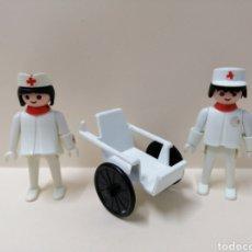 Playmobil: PLAYMOBIL, LOTE FIGURAS HOSPITAL ENFERMERA SILLA RUEDAS SANITARIO ACCESORIOS PRIMERA ÉPOCA FAMOBIL. Lote 143572978