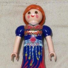 Playmobil: PLAYMOBIL LFIGURA MUJER CHICA SEÑORA PELIRROJA PELO RECOGIDO COLA PITONISA ADIVINA VESTIDO CIUDAD . Lote 143941450