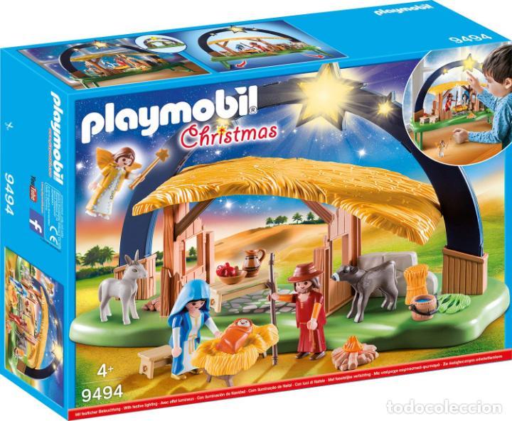 Fotos Del Nacimiento De Navidad.Playmobil Nuevo Belen Nacimiento Navidad Nino Jesus Con Luz 9494 Nuevo En Caja Sin Abrir