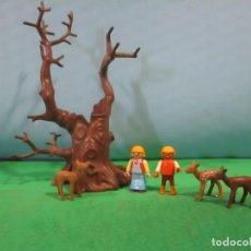 Playmobil: PLAYMOBIL-JARDIN-ARBOL-NIÑOS,CIERVOS-BOSQUE- BELEN-CASTILLO-OESTE-WESTERN-PIEZAS. Lote 144215382