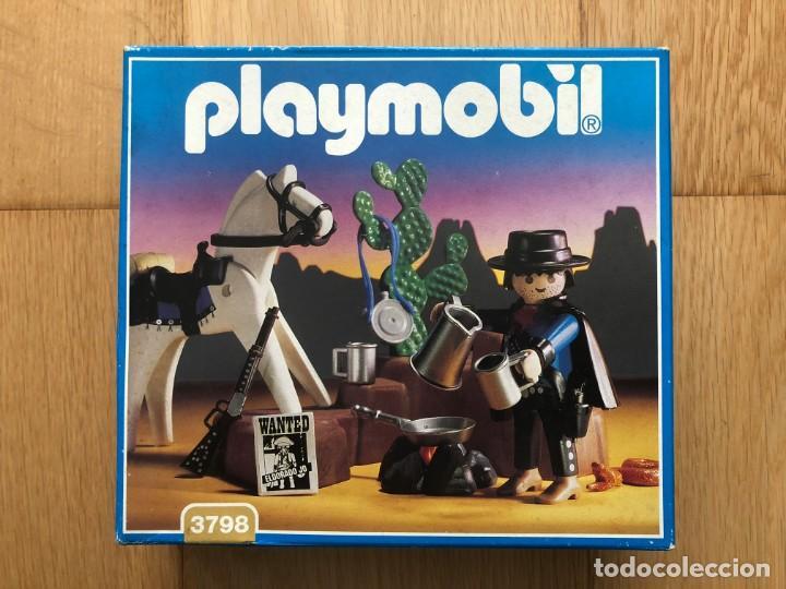 PLAYMOBIL NUEVO 3798 CAZARRECOMPENSAS BANDIDO OESTE WESTERN DESCATALOGADO CAJA (Juguetes - Playmobil)