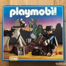 Playmobil: PLAYMOBIL NUEVO 3798 CAZARRECOMPENSAS BANDIDO OESTE WESTERN DESCATALOGADO CAJA. Lote 144655106