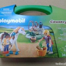 Playmobil: PLAYMOBIL-9100 MALETÍN GRANDE CUIDADO DE CABALLOS. Lote 144655154