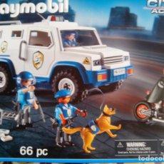 Playmobil: COCHE POLICIAS MOTO CAJA 9371. Lote 144694554